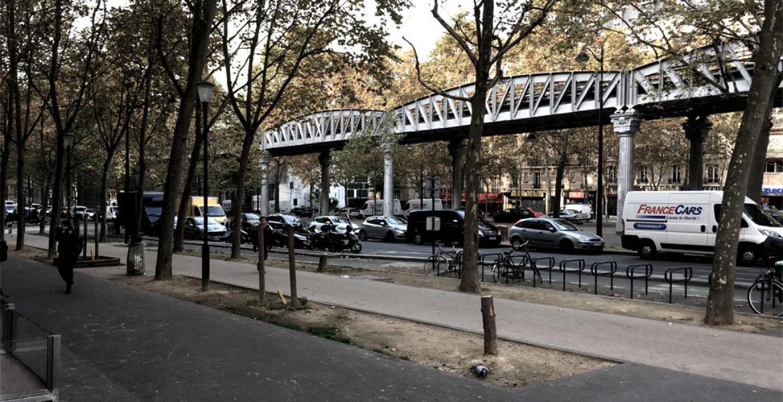Réinventer Paris II, PLACEMAKER'S LAB PARIS, Espace viaire sous viaduc, métro ligne 6