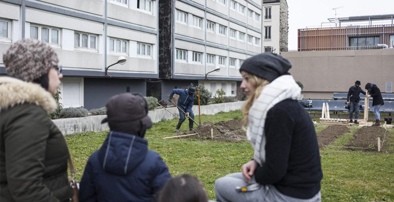 104 Barbus, réappropriation citoyenne d'un pied d'immeuble