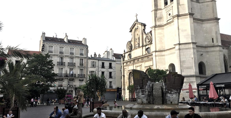 Requalification de la place de l'Hôtel de Ville, Aubervilliers (93)