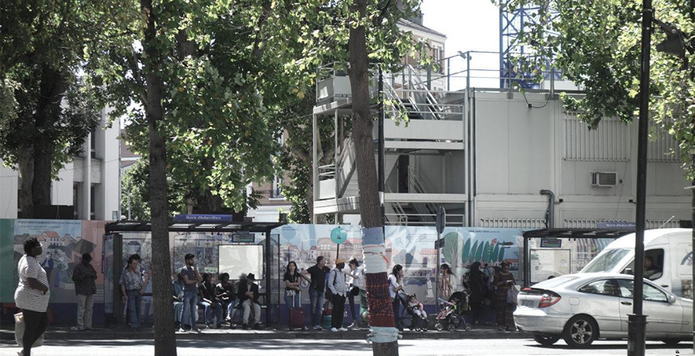 Ilôt Pesqué, Urbanisme tactique et aménagements temporaires, Aubervilliers (93)